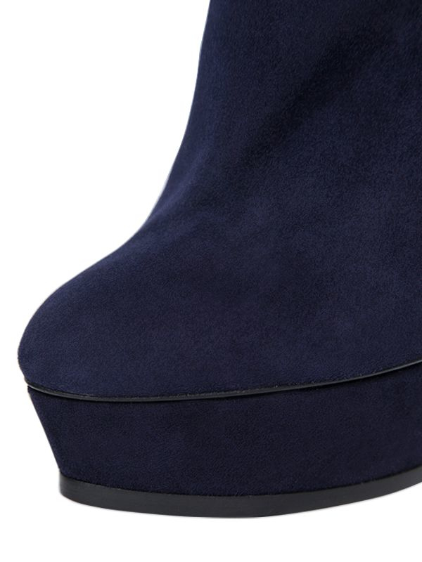 Casadei | Blue 140mm Suede Ankle Boots | Lyst