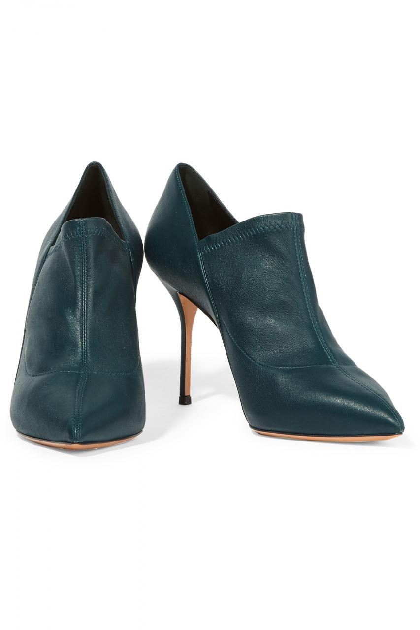Casadei | Blue Leather Ankle Boots | Lyst