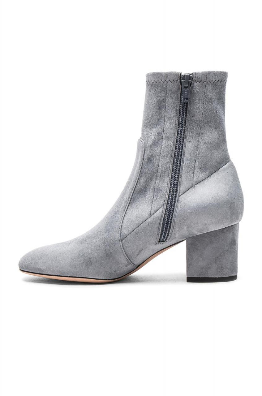 Valentino | Gray Suede Booties | Lyst